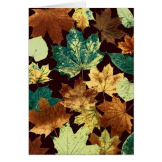 Cartão Leaves áureas