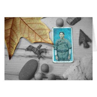 Cartão leavings do outono