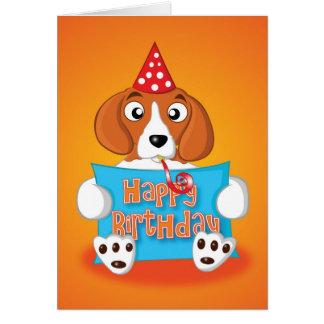 Cartão lebreiro - sinal - feliz aniversario