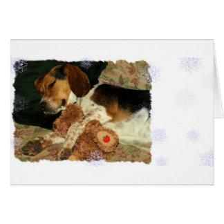 Cartão Lebreiro Snoopy sonolento dos sonhos doces com