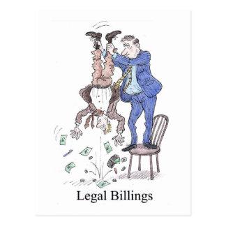 Cartão legal dos faturamentos
