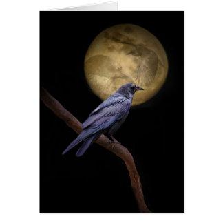 Cartão legal gótico do Dia das Bruxas do corvo