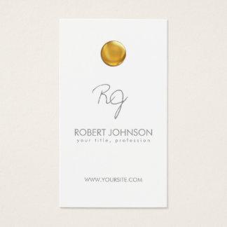 Cartão legal Monogrammed do ponto dourado branco