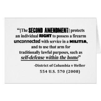 Cartão Lei de antecedentes da alteração da C.C. v Heller