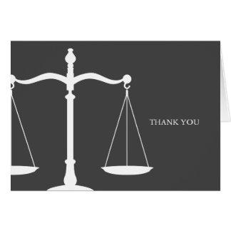 Cartão Lei elegante das escalas legais temático