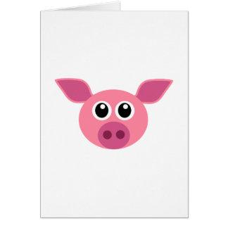 Cartão Leitão bonito do porco