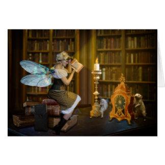 Cartão Leitores da luz de vela - personalize-me!