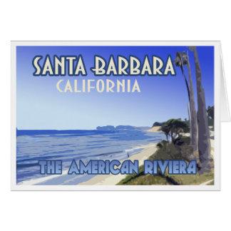 Cartão Lembrança da praia da borboleta de Santa Barbara