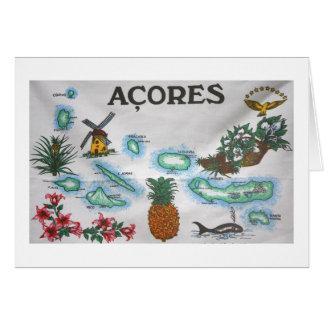 Cartão Lembrança de Açores
