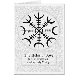 Cartão Leme do sinal mágico islandês do incrédulo -