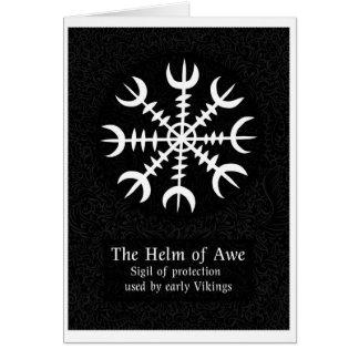 Cartão Leme do sinal mágico islandês do incrédulo - preto
