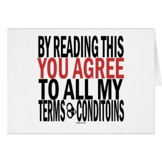 Cartão Lendo isto você concorda