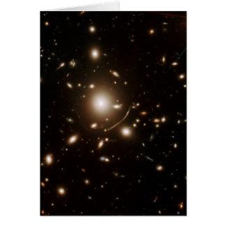 Cartão Lente gravitacional do telescópio espacial do