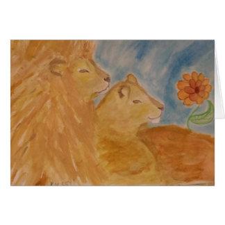 Cartão leões