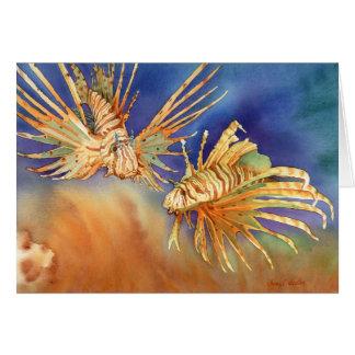 Cartão Leões do oceano