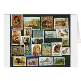 Cartão Leões em selos