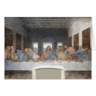 Cartão Leonardo da Vinci icónico a última ceia