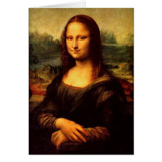 Cartão LEONARDO DA VINCI - Mona Lisa, La Gioconda 1503