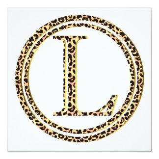Cartão leopardo L