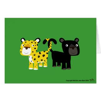Cartão Leopardos do amor