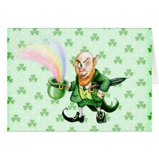 Cartão Leprechaun do dia do ` s de St Patrick