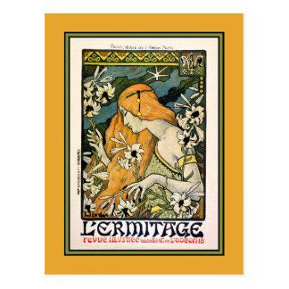 Cartão: L'Ermitage - cartão de Nouveau da arte