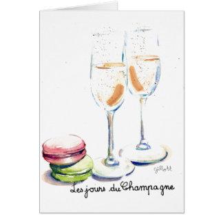 Cartão Les Jours du Champagne