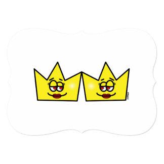Cartão Lesbian Lesbica Rainha Queen Crown Coroa
