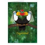 Cartão lésbica bonito dos parabéns do casamento de