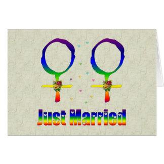 Cartão Lésbica do recem casados