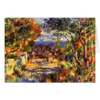 Cartão L'Estaque por Pierre Renoir, impressionismo do