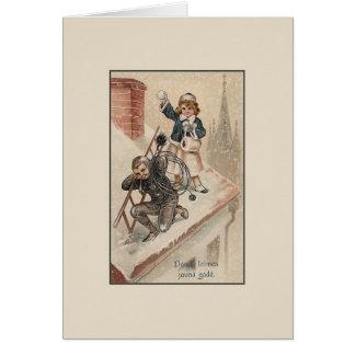 Cartão letão do ano novo do Victorian