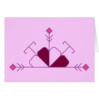 Cartão letão do credo da lealdade (versão fêmea)