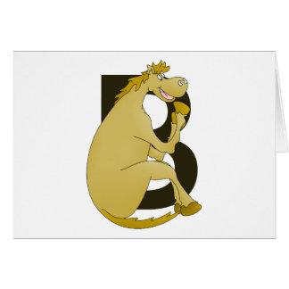 Cartão Letra B do monograma do pônei