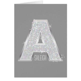 Cartão Letra de prata A