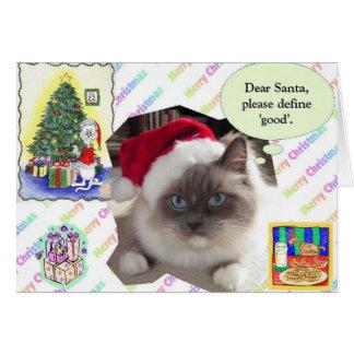 Cartão Letra do Natal