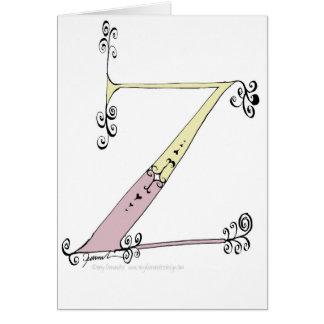 Cartão Letra mágica Z do design tony dos fernandes