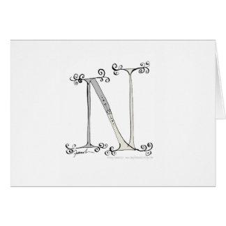 Cartão Letra N mágica do design tony dos fernandes