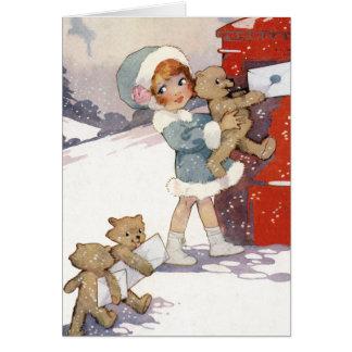 Cartão Letras do Natal da afixação por Agnes Richardson