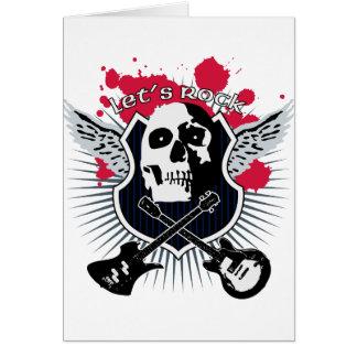 Cartão Let's rock!