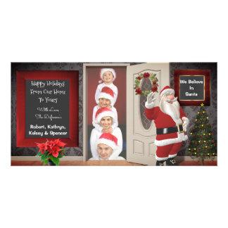 Cartão Levantamento com Natal do papai noel