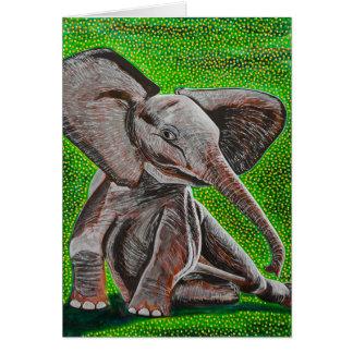 Cartão Levantando o elefante do bebê
