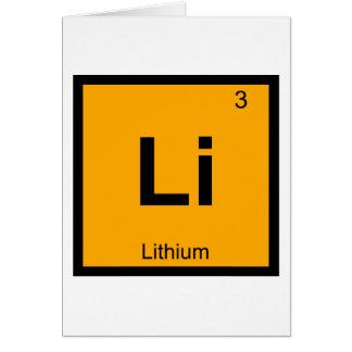 Cartão Li - símbolo da mesa periódica da química do lítio