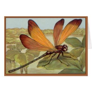 Cartão Libélula dourada