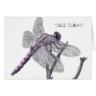 Cartão Libélula (tome o vôo.)