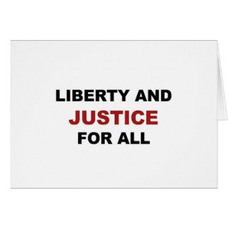 Cartão Liberdade e JUSTIÇA para tudo