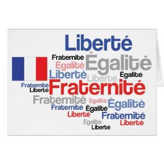 Cartão Liberdade, igualdade, fraternidade - Revolução