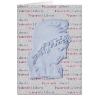 Cartão Liberdade, igualdade, revolução do La de Vive da