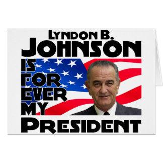 Cartão Libra Johnson para sempre