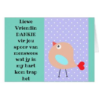 Cartão Liewe Vriendin